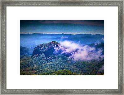 Mystery Of Looking Glass Rock Framed Print