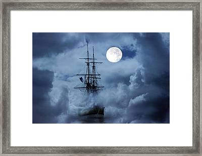 Mystery Ship Framed Print by Stephanie Laird