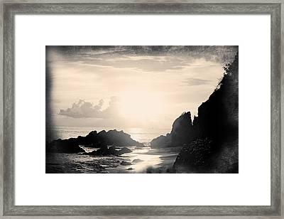 Mystery Shores Framed Print