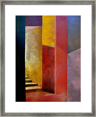 Mystery Stairway Framed Print by Michelle Calkins