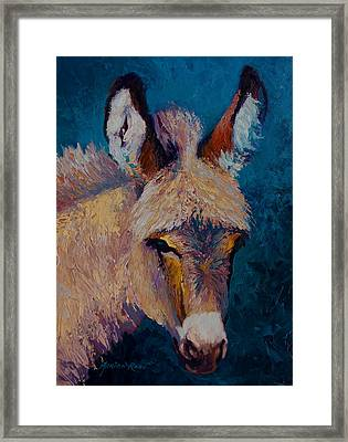 Mystic - Burro Framed Print by Marion Rose