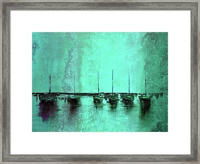 Mystic Bay Aqua Framed Print by Ken Figurski