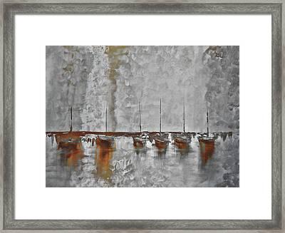 Mystic Bay Grayish Framed Print