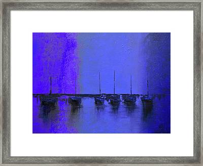 Mystic Bay Purple And Blue Framed Print