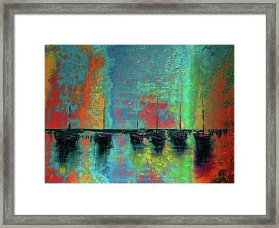 Mystic Bay Rainbow Framed Print