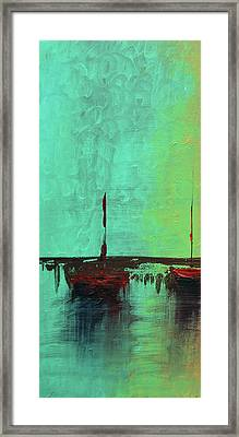 Mystic Bay Triptych 1 Of 3 Framed Print