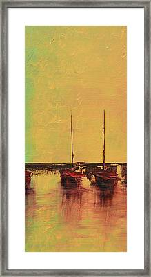 Mystic Bay Triptych 2 Of 3 Framed Print