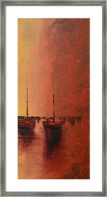 Mystic Bay Triptych 3 Of 3 Framed Print