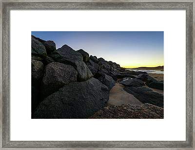 Mystic Beach Framed Print