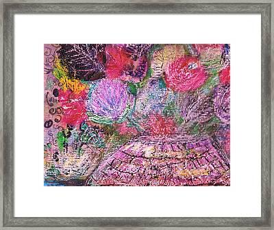 Mystic Bouquet  Framed Print by Anne-Elizabeth Whiteway