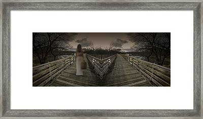 Mystic Bridge In A Dream World Framed Print