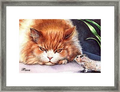 Mystic Cat Framed Print by Larissa Prince