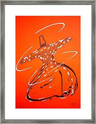 Mystic Dancer In Orange Framed Print by Faraz Khan
