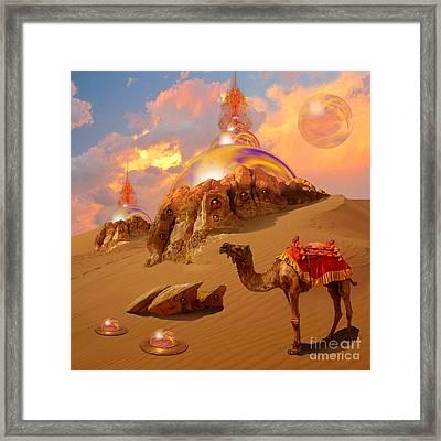 Framed Print featuring the digital art Mystic Desert by Alexa Szlavics