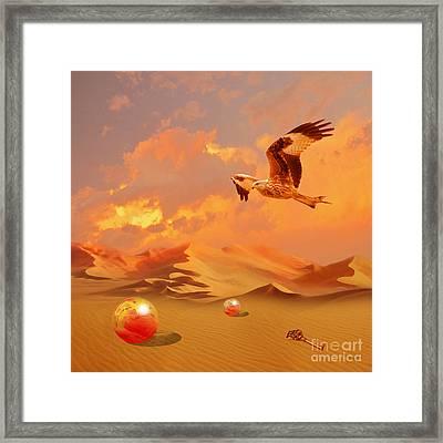 Framed Print featuring the digital art Mystic Desert Another Planet by Alexa Szlavics