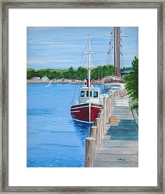 Mystic Dock Framed Print by Anthony Ross