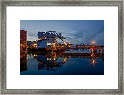Mystic Drawbridge At Twilight Framed Print