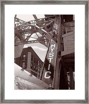 Mystic Drawbridge Framed Print by Heather Weikel