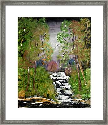 Mystic Fall Framed Print