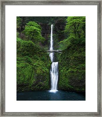 Mystic Falls Framed Print by Larry Marshall