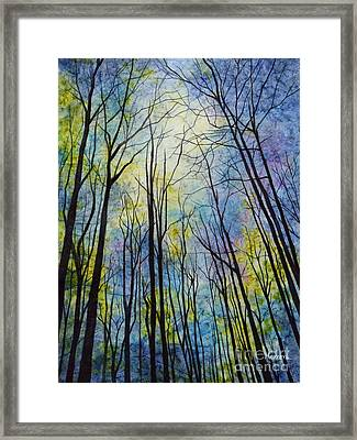 Framed Print featuring the painting Mystic Forest by Hailey E Herrera