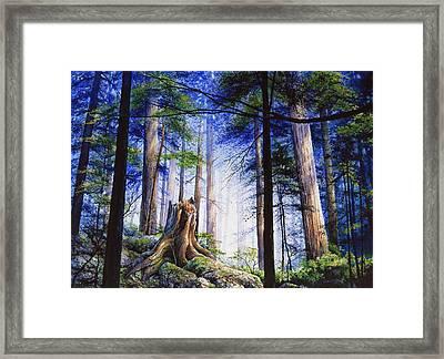 Mystic Forest Majesty Framed Print by Hanne Lore Koehler
