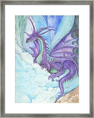 Mystic Ice Palace Dragon Framed Print by Morgan Fitzsimons