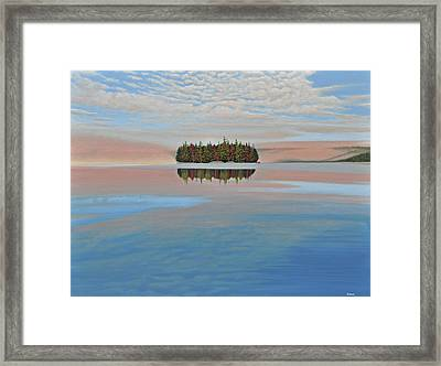 Framed Print featuring the painting Mystic Island by Kenneth M  Kirsch