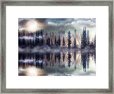Mystic Lake Framed Print