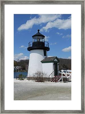 Mystic Lighthouse Framed Print by Gordon Mooneyhan
