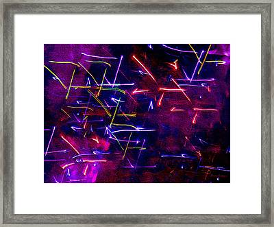 Framed Print featuring the digital art Mystic Lights 8 by Donna Corless