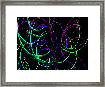 Mystic Lights 9 Framed Print by Donna Corless