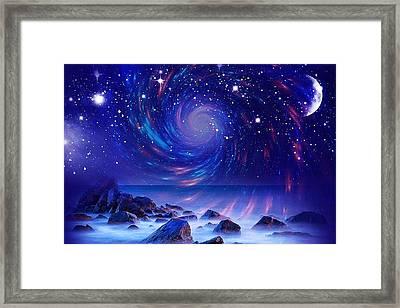 Mystic Lights Framed Print by Gabriella Weninger - David