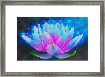 Mystic Lotus Framed Print