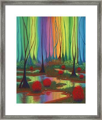 Mystic Marsh 01 Panel B Framed Print