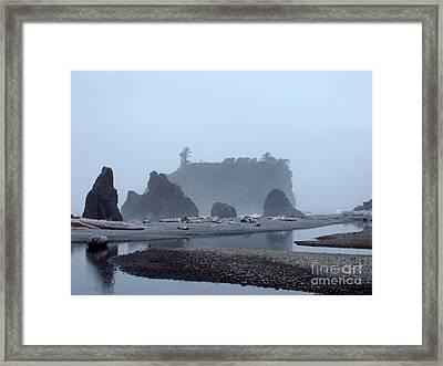 Mystic Morning Framed Print by Julie Lueders