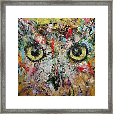 Mystic Owl Framed Print by Michael Creese