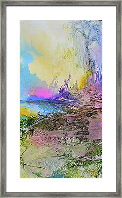 Framed Print featuring the painting Mystic Rendevous by Mary Sullivan
