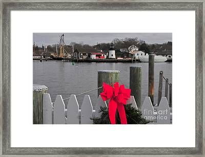 Mystic River Framed Print by Catherine Reusch Daley