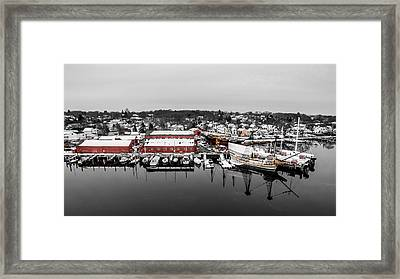 Mystic Seaport In Winter Framed Print