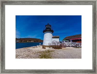 Mystic Seaport Lighthouse Framed Print