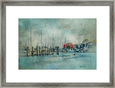 Mystic Seaport - Mystic Connecticut Framed Print by Bill Cannon
