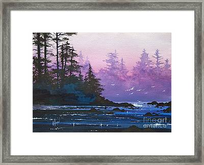 Mystic Shore Framed Print by James Williamson