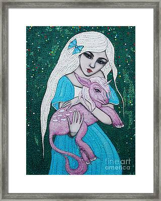 Framed Print featuring the mixed media Mystical Beginnings by Natalie Briney