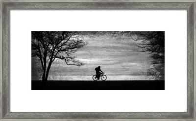Mystical Bike Ride To Shangri-la Framed Print by Robert Frank Gabriel