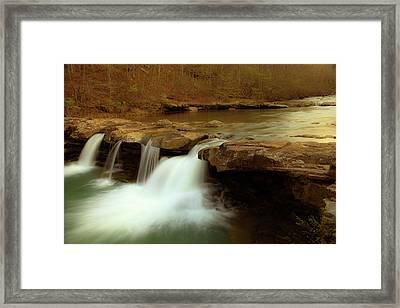 Mystical King River Falls Framed Print by Iris Greenwell
