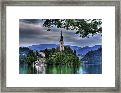 Mystical Lake Bled Framed Print