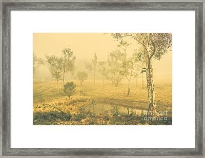 Mystical Lake Framed Print