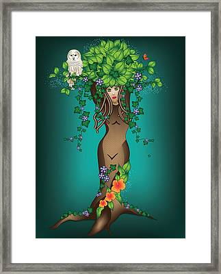 Mystical Maiden Tree Framed Print by Serena King