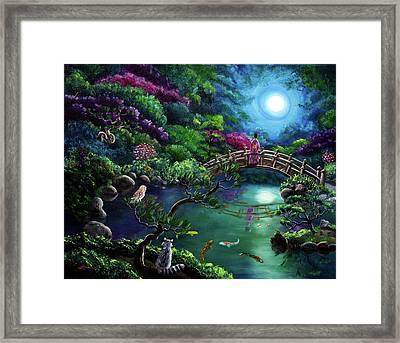 Mystical Moon Gazing Framed Print